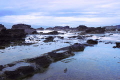 Sawarna Rocky Beach Royalty Free Stock Photo