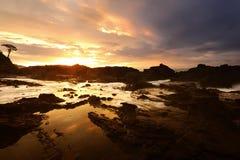 Sawarna rocky beach Stock Photo