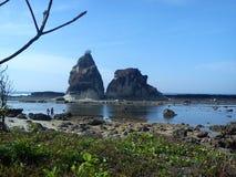 Sawarna strand Royaltyfri Fotografi