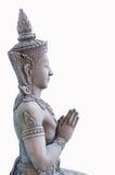 Sawasdee da deusa do estuque de Tailândia Imagens de Stock Royalty Free