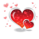 Sawasdee valentine. Red Heart icon and blackground for various designs Stock Photo