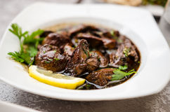 Sawda Djej- chicken liver dish Royalty Free Stock Photo