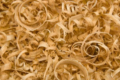Sawdust. Wood chips and  sawdust texture or background Stock Photos