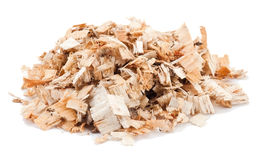 Sawdust. On the white background stock image