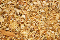 Sawdust animal bedding (Texture) Stock Photo