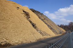 Sawdust and chip wood Royalty Free Stock Photography