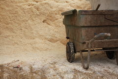 Sawdust  ready to be used to dry the stables Royalty Free Stock Photography