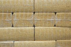 Sawdust Packs Neatly Stacked Royalty Free Stock Photos