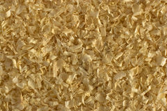 Sawdust for rodents texture. Texture of deciduous and coniferous sawdust for rodents royalty free stock images