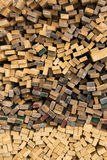 Sawed timber planks Stock Photo