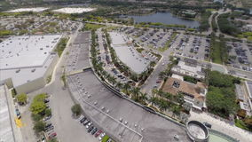 Sawgrass Mall Aerial video footage 2 stock video