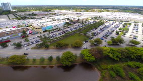 Sawgrass Mall Aerial video footage 4 stock video footage
