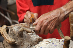 sawing плотника Стоковое Изображение RF
