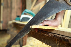 Sawing royalty free stock photography