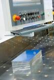 Sawing en aluminium images libres de droits