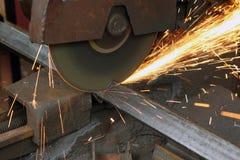 Sawing metal Stock Image