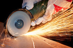 Sawing metal Royalty Free Stock Photos
