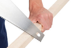 Sawing wood Stock Photos