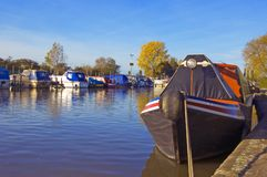 Sawley moorings Stock Photography