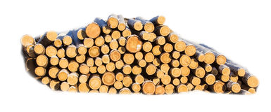 Sawlogs to produce general-purpose lumber. On white background stock photo