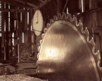 Sawmill. An old small sawmill silently waits for it's next feeding Royalty Free Stock Photo