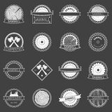 Sawmill badges or emblems Stock Image