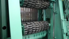 Sawmill equipment stock video footage