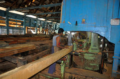 Sawmill factory Stock Images