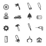 Sawmill icons Royalty Free Stock Images