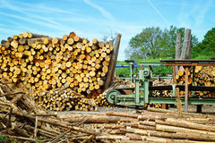 Sawmill (lumber mill). At sunny summer day Stock Image