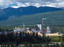 Sawmill in Rockies. Sawmill in Canadian Rockies, British Columbia Stock Photography