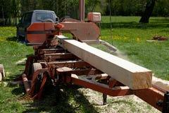 Sawmill som kan flyttas Royaltyfria Foton