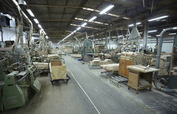 Sawmill wood industry Stock Image