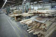 Sawmill wood industry Royalty Free Stock Photos