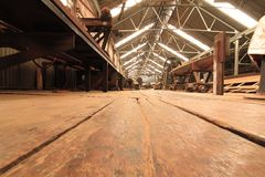 Sawmill wood old. Royalty Free Stock Photography