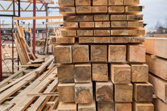 Sawmill, wood processing, timber drying Stock Image