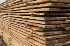 Sawmill, wood processing, timber drying. Timber harvesting, drying boards, baulk Stock Photography