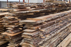 Sawmill, wood processing, timber drying Royalty Free Stock Image