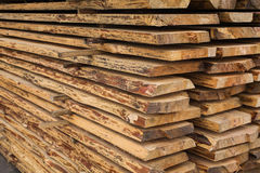 Sawmill, wood processing, timber drying, harvesting, boards, baulk Stock Photo