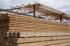 Sawmill, wood processing, timber drying, timber harvesting Stock Photos