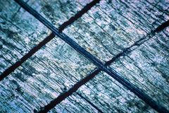 Sawn grooves in wood Royalty Free Stock Photography