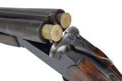 Sawn-off shotgun. Isolated on white Stock Photo