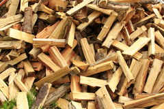 Sawn and split firewood Royalty Free Stock Photography