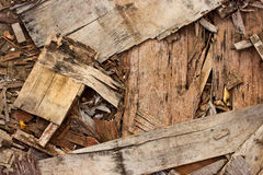 Sawn wood cut piled perfectly Royalty Free Stock Photography