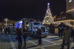 Sławna koka-koli ciężarówka Obraz Stock