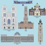 Sławni miejsca w Belgia Obraz Royalty Free