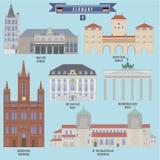 Sławni miejsca w Niemcy Obrazy Stock