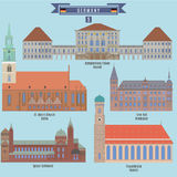 Sławni miejsca w Niemcy Fotografia Stock
