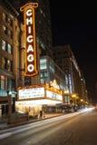 Sławny Chicagowski teatr na State Street na Październiku 4, 2011 i Zdjęcia Royalty Free