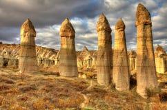 Sławny miasto Cappadocia w Turcja Zdjęcie Stock
